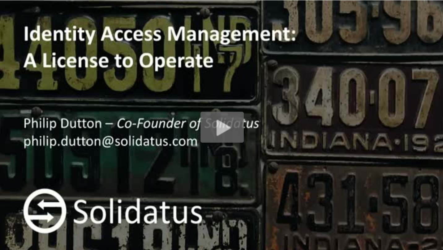 Solidatus Brighttalk_Identity and Access Management Title Slide_July2019
